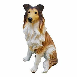 Design Toscano Langhaar-Collie, Figur (Collie Hund Figur)