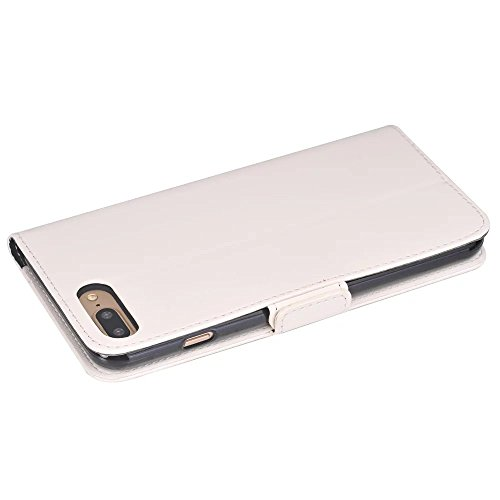 Huile Texture Pattern Fermeture Magnétique Flip Stand Case Portefeuille Housse Avec Carte Cash Slots pour Apple IPhone 7 Plus ( Color : Rose , Size : IPhone 7 Plus ) White