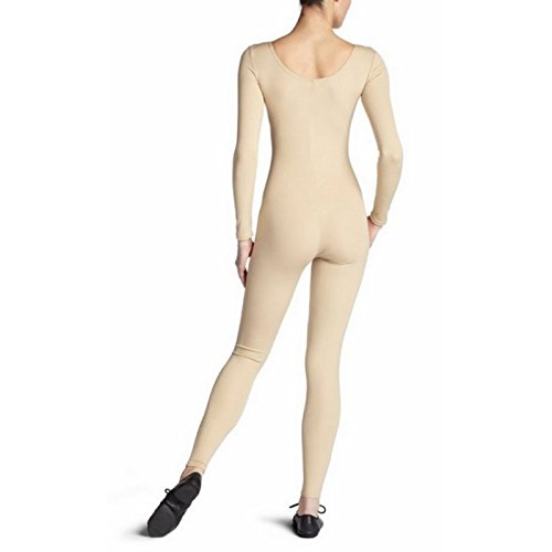 Sharplace Damen Ganzkörper Hals Langarm Unitard Body Tanzkostüm - Nackt, l