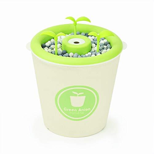 280 ml de cerámica Humectador de planta en maceta de iones negativos USB Hogar Hogar dormitorio purificador de aire humidificador 105 * 107mm