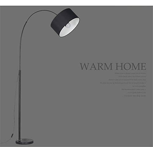 Stehlampe,standleuchte-Moderne LED Arc Stehleuchte mit Marmorsockel - Ideal zum Lesen - Freistehend, hinter der Wohnzimmercouch,Black