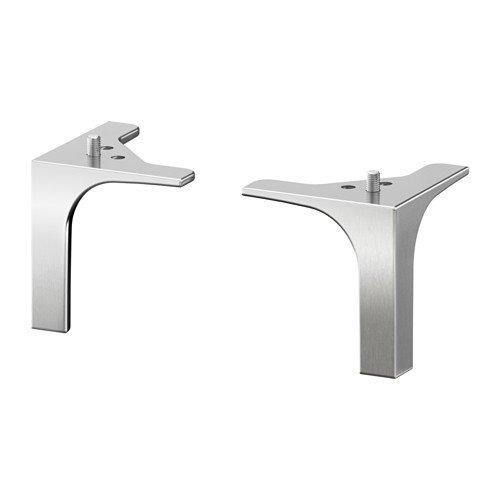 Ikea NANNARP Möbelbeine aus Aluminium; 2 Stück