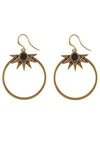 Hultquist Etno or et boucles d'oreilles avec pierre Noir