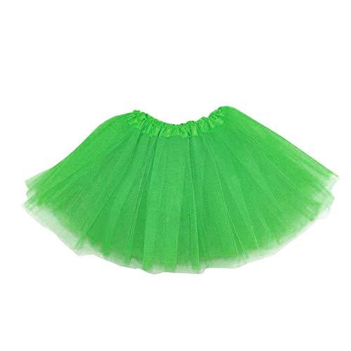 Fashion Style Kinder Tu Tu Rock weiches Ballerina-Tanz-Kleid 3 Schicht-Mesh-Recital Röckchen-Rock-Replacement-Ballett-Tanz-Rock für Mädchen Grün