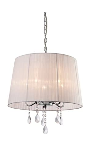 Firstlight 5 x E14 40 Watt Organza 5 Pendant, Chrome