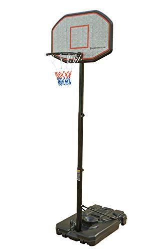 Northern Stone Pro Court Basketballkorb, höhenverstellbar, freistehend, mit Rückwand, offizielle Höhe