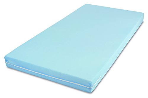 MSS Easy Active Mattress / Choice with 7 Zones, Polyester, blue, 90 x 200 cm