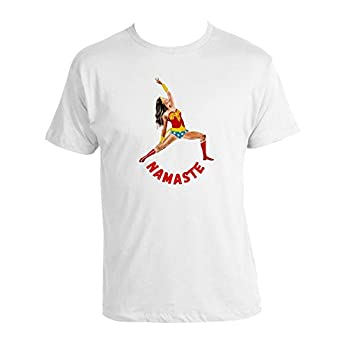 Namaste Yoga T-shirt Wonder Woman 100% Baumwolle Yoga T-shirt Weiss Neu Love