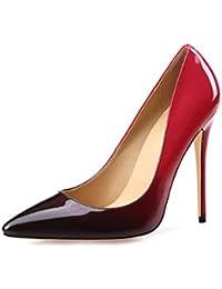 LBTSQ-diamond tallone scarpe con tacchi alti temperamento 10cm superficiale bocca piccolo freschi scarpe a punta.Thirty-nine