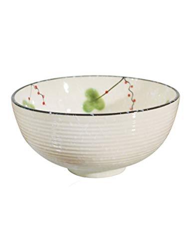Cuencos de postre Tazón de fuente de ensalada de fruta de cerámica del estilo japonés Cuenco de sopa grande Tazón de fuente de Ramen Pescados hervidos Pescado de conserva en vinagre Tazón de fuente gr