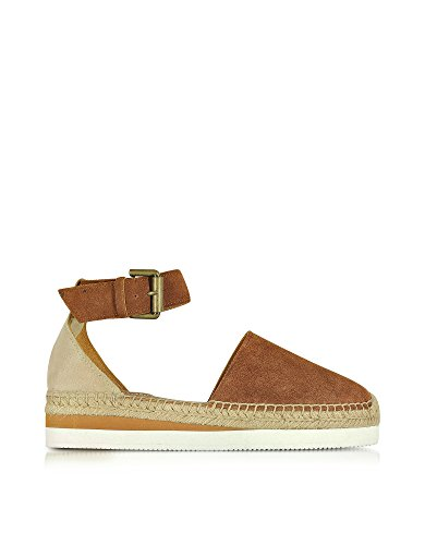 SEE BY CHLOÉ SANDALI DONNA SB2615005320TAN CAMOSCIO MARRONE