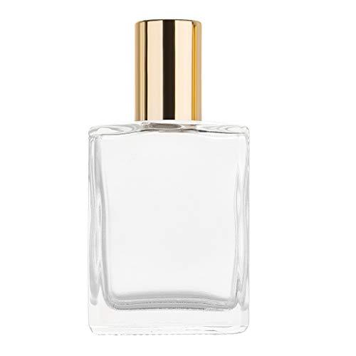 MA87 Ätherische Öle Roller Ball Glas Parfüm Flaschen Reisenden nachfüllbarer Behälter (O) - Liner Vorhang Dusche Klar