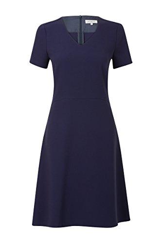 Promiss Damen Kleid Einfarbig Durny Kurzarm Knielang V-Ausschnitt