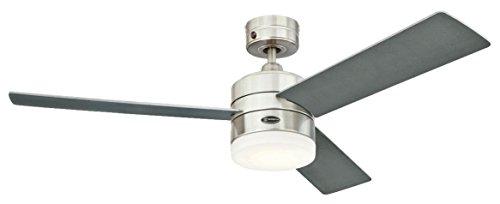 Westinghouse Ventilatore a soffitto Alta Vista Integrata, 17 W, Acciaio inossidabile