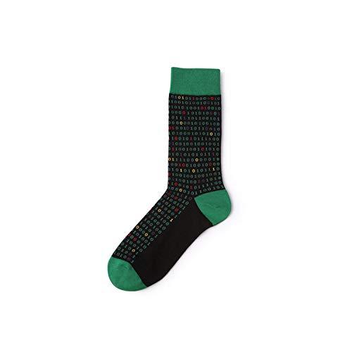 gthytjhv Calcetines de tripulación, paquete de calcetines de vestir, Socks Brand Men's Novelty Socks Combed Cotton Christmas Gift Chausettes Homme Animal Puzzle Design Funny Socks 4 One Size