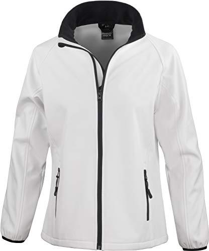 Result Core Damen Softshell-Jacke, bedruckbar (L) (Weiß/Schwarz)