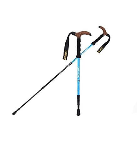 GAOJIAN Bâtons de randonnée Poteaux de trekking en plein air Bâtons de marche télescopique à tôle télescopique en carbone Old Man Pumps and Walking Pole , a
