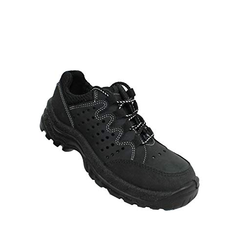 Lupos Revol-18 S1 Scarpe da Lavoro Scarpe di Sicurezza Piatto Nero B-Ware, Dimensione:41 EU