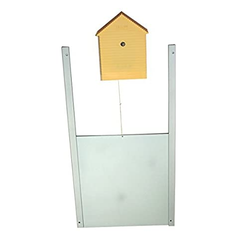 Ouvre-porte de poulailler avec capteur de luminosité PLUS porte métallique