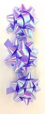 3PK lila irisierend Mini Band Bögen Geschenkpapier Geschenk Dekoration Craft Paket