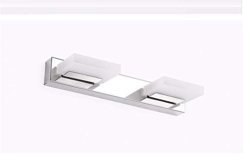 GFF Acryl Highlights, Led Edelstahl Anti-Fog-Spiegel, Scheinwerfer, Bad, WC, Make-up-Tisch, wasserdichte Beleuchtung, beide Enden sind 35Cm-6W Weiß -