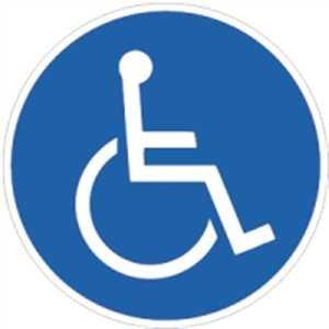 INDIGOS Sticker-DE-2001 Autoaufkleber für Behinderte 100x100 mm - Aufkleber für Behinderte