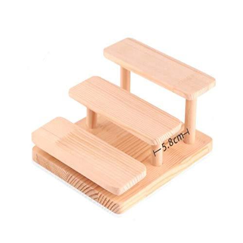 MASIYU Holzpuppe Spielzeug Display Stand Brillen zeigt Rack Schmuck Halter Armband Tray Stand Uhr Kosmetik Regal