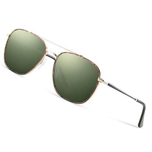 Avoalre Sonnenbrille Herren Polarisiert Pilotenbrille, 2019 Trend Polarisierte Sonnenbrille Herren grün Fliegerbrille Männer 100% 400 UV Schutz