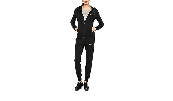 Emporio Armani Damen Trainingsanzug schwarz schwarz XL  Amazon.de   Bekleidung 9d740100bf