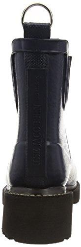 Ilse Jacobsen Damen 3/4 Gummistiefel Kurz, Rub47, Bottes en caoutchouc de hauteur moyenne, doublure froide femme Bleu - Blau (Dunkelindigo (660))