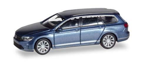 Herpa 38980 VW Passat Variant GTE E-Hybrid, Color Azul metálico