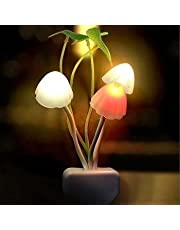 Piesome Fancy Color Changing LED Mushroom Night Light for Kids Magic Night Lamp Night lamp for Bedroom,Night lamp with Plug,Night lamp with Light Sensor,Automatic Off/on Smart Sensor(Multicolour)