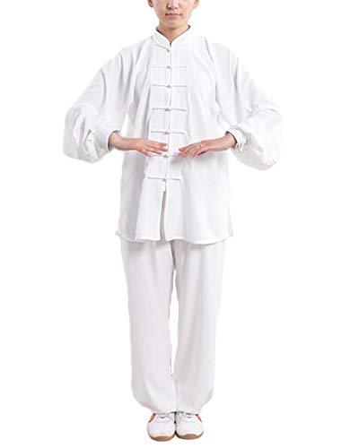 Tai chi pankou abbigliamento con per colletto dritto unisex modelli gong fu arti marziali abiti completi bianco 3xl