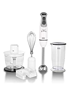 Black+Decker BXBL6002IN 600 Watt Hand Blender (White)