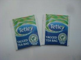 50 Tetley Tea - 50 x Individual Tagged Tea Bags in Envelopes