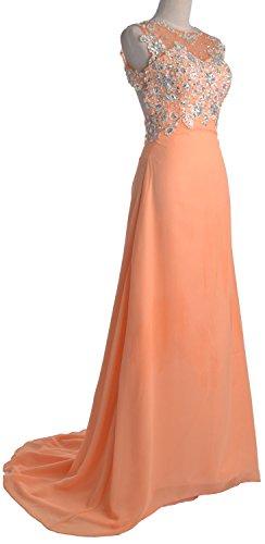 MACloth - Robe - Trapèze - Sans Manche - Femme Rose - Pêche