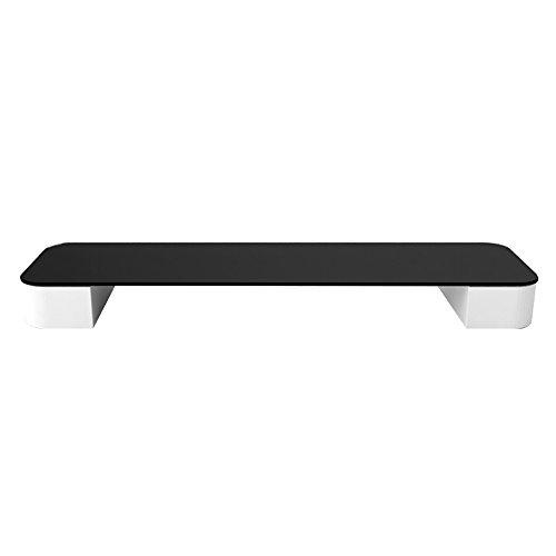 Unbekannt Support Einschichtiger Computer Monitor Desktop Raised Shelf, Base Bracket Regal, Weiß Größe 70 * 20 * 9,9cm (Farbe : Schwarz)