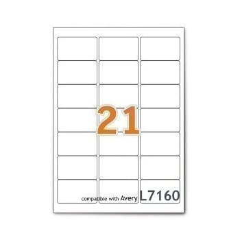 Avery L7160 40 Self Adhesive Addressmailing Labels Amazon Fba