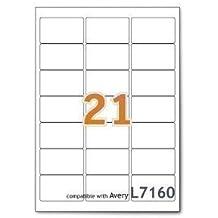 A4 Mailing Address Printer Labels Sheet 21 Labels Per Sheet 100 Sheets 1 Box
