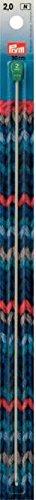 Crochets tunisiens pour laine alu gris-perle 30 cm 3,50 mm