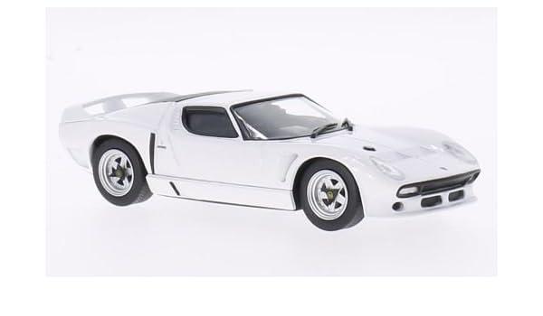 Lamborghini Miura Svj Roadster White 1981 Model Car Ready Made