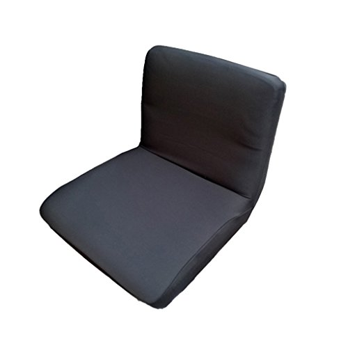 Homyl Spandex Extensible Basse Courte Couverture De Tabouret De Couverture De Chaise Arrière - Noir