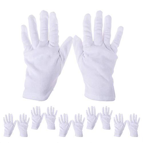 SevenMye 6Paar Kosmetik-Handschuhe, feuchtigkeitsspendende Handschuhe aus dicker Baumwolle, weiße Handschuhe für Kosmetik, Spa-Handschuhe -