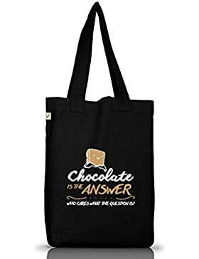Shirtstreet24, Chocolate Is The Answer, Jutebeutel Stoff Tasche Earth Positive (ONE SIZE)