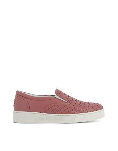 bottega-veneta-femme-370760v00135707-rose-cuir-chaussures-de-skate