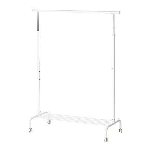 Foto de IKEA RIGGA- Perchero de pie, (altura máx.) 175 cm x 111 cm x  51 cm, color blanco, 1