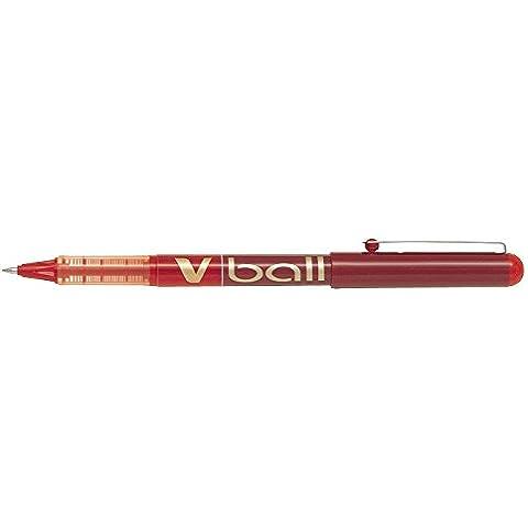 Pilot V-ball, 07, red - Bolígrafo (07, red, Rojo),  12 unidades