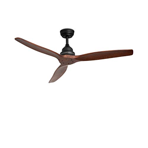 IKOHS WINDWOOD - Ventilatore a Soffitto Ultrasilenzioso (Nero Opaco)