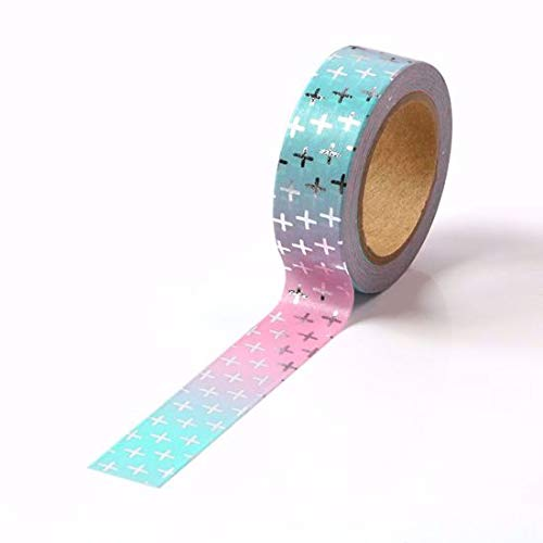Cross Silver Foil Washi Tape for Planning • Planer und Organizer • Scrapbooking • Deko • Office • Party Supplies • Gift Wrapping • Colorful Decorative • Masking Tapes • DIY