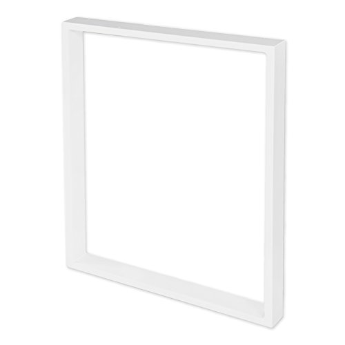 Stahl-Tischkufe | 1 Stück | Tischgestell | Breite 70 cm x Höhe 72 cm | Sossai® TKK1-WH7072-1 | Farbe: Weiß (pulverbeschichtet) | Gewicht: 6.8 Kg pro Stück
